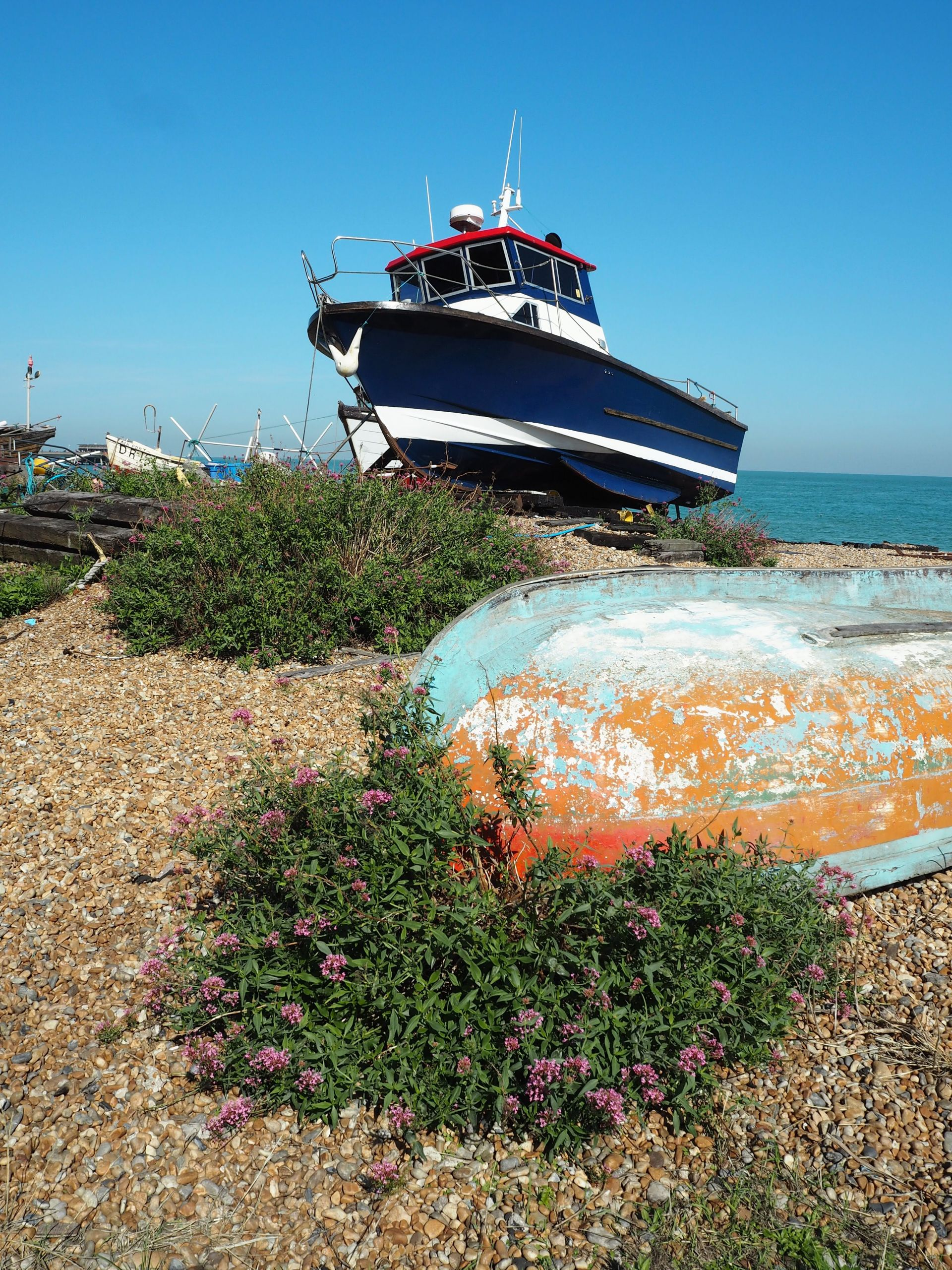 Boat on Deal beach