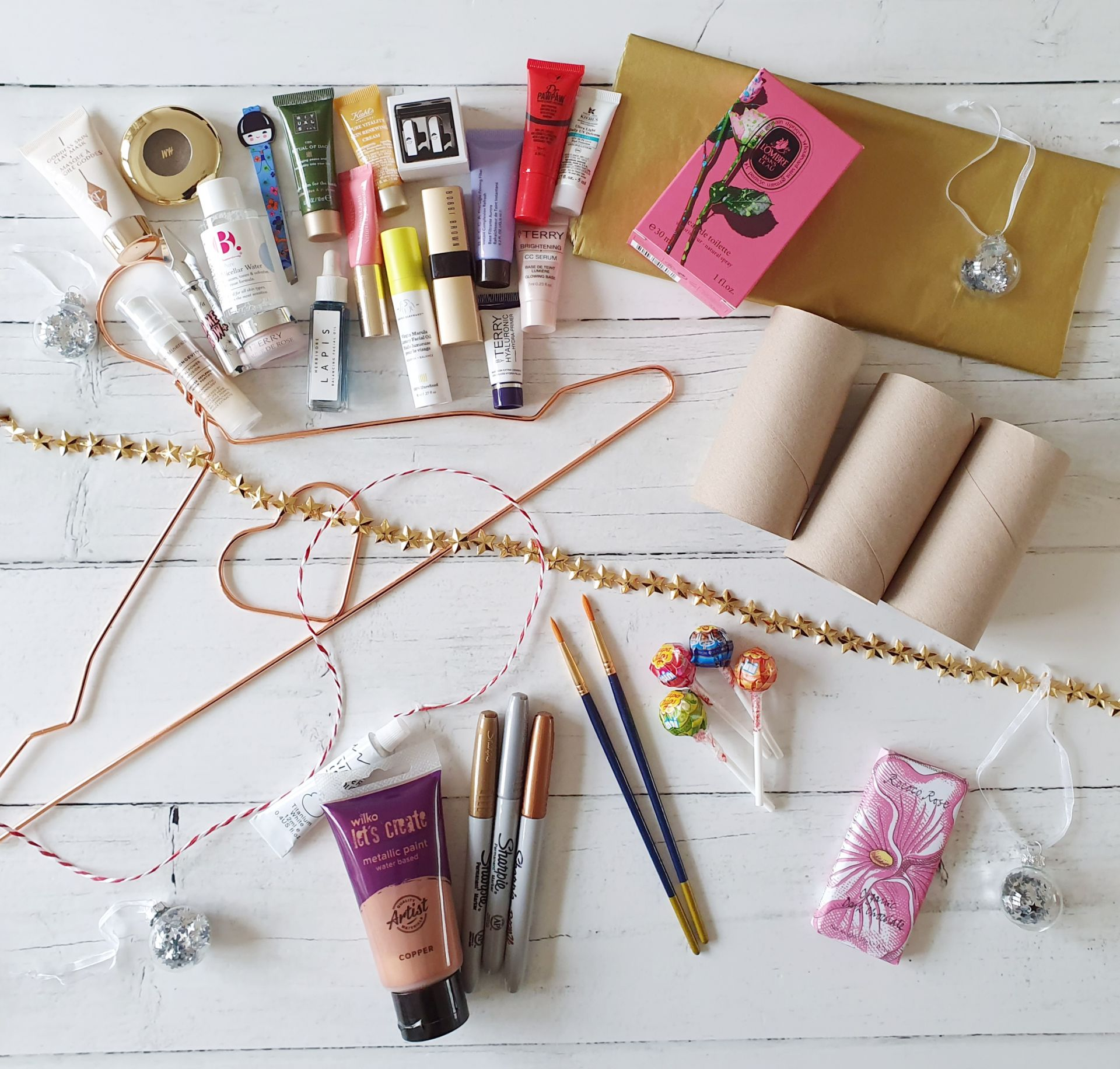 DIY beauty advent calendar