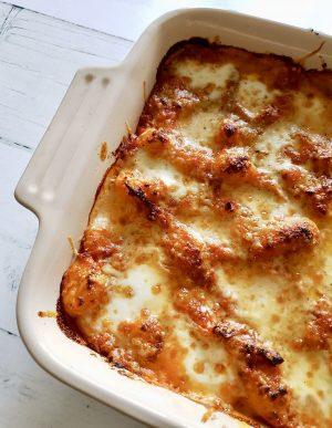 3 cheese Gnocchi bake