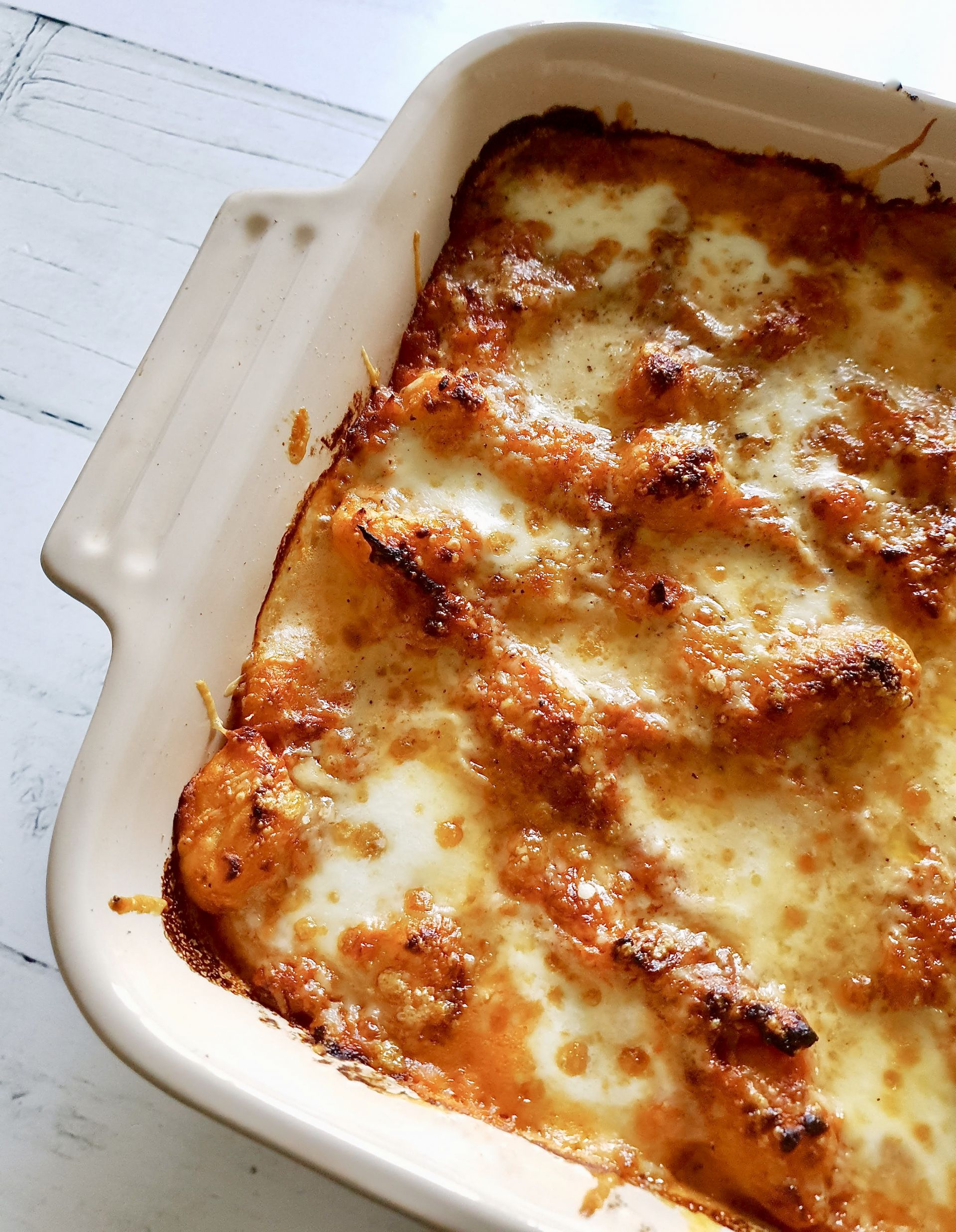 3 cheese Gnocchi bake